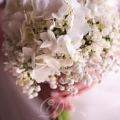 Bouquet ortensie bouvardia idecoration