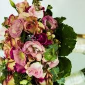 bouquet lisianthus rosa idecoration