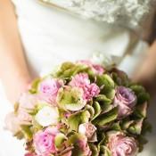 bouquet di ortensie e rose