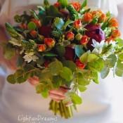 bouquet peonie rosse