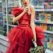 sposa in rosso Alice Bonifazi