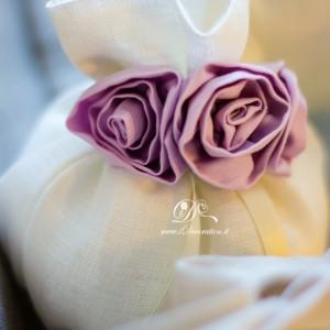 Bomboniera rose lilla